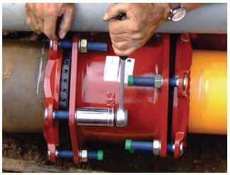 unión de tubos de distintos diámetros y materiales