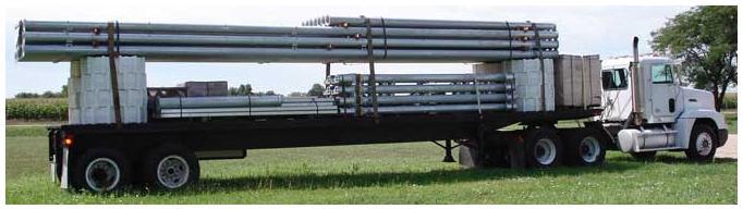 Transporte de pivote con ruedas de polietileno