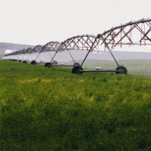 Sistema Pivot accionado hidráulicamente