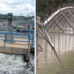 Pivote central en el riego con aguas residuales