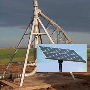 Funcionamiento de riego pivot con energía solar