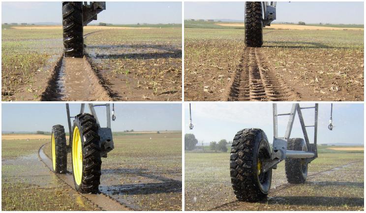 Las roderas del Pivot y la rueda especial SuperTrac