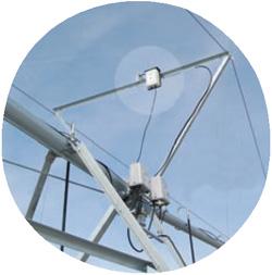 Sistema de monitorización en la torre final del Pivot