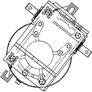 calzas instaladas tras los tornillos de montaje del reductor de rueda