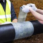 Venda para reparar tuberías de diferentes diámetros
