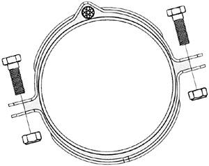 abrazadera anti-robo de cable eléctrico