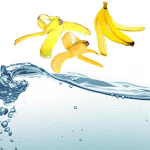 cáscara de plátano para eliminar metales en el agua