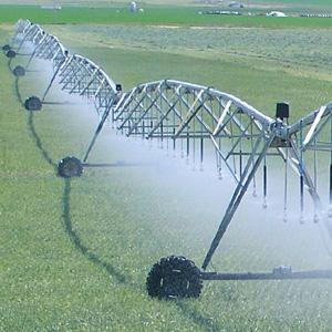 cultivo extensivo con sistema de riego de pivote central