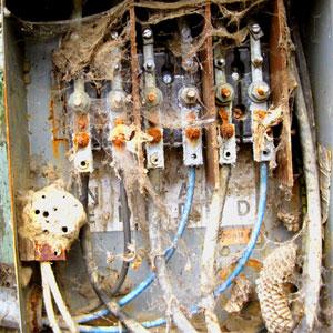 caja eléctrica a la intemperie
