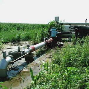 instalación de riego por aspersión