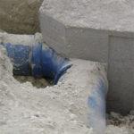 bloques de anclaje en tuberías