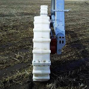 rodera en sistema de riego pivot