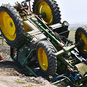 vuelco de un tractor