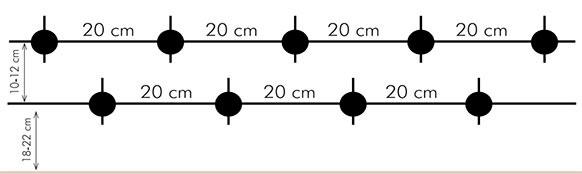 higroconvectores instalacion de dos filas