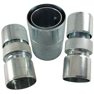 Manguitos de acero para reparar tubos de polietileno