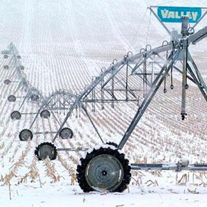 Pivots Valley regando en invierno