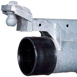 Tubo principal de Pivot en acero galvanizado con interior de polietileno