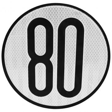 señal v4 limitacion de velocidad 80km/h