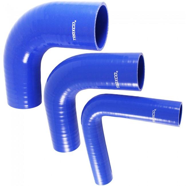 Tubo de silicona reforzado en forma de codo de 90 grados