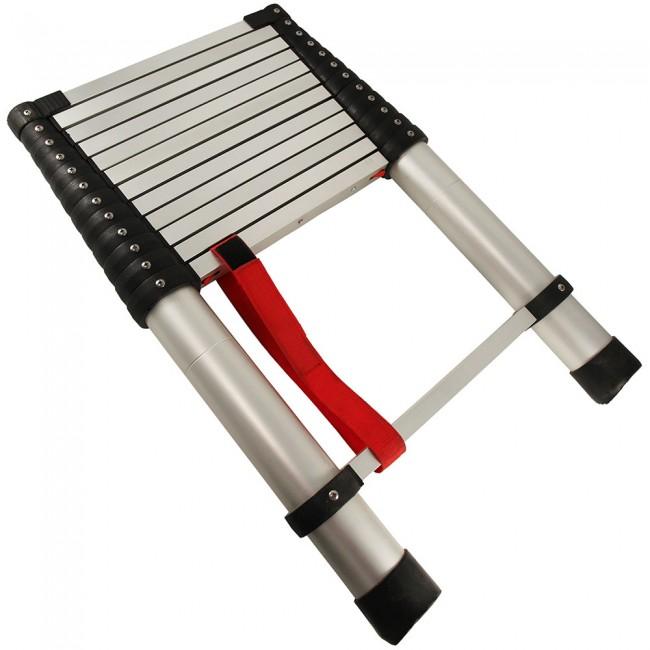 Comprar escalera telesc pica escalera plegable de aluminio for Escaleras para buhardillas plegables