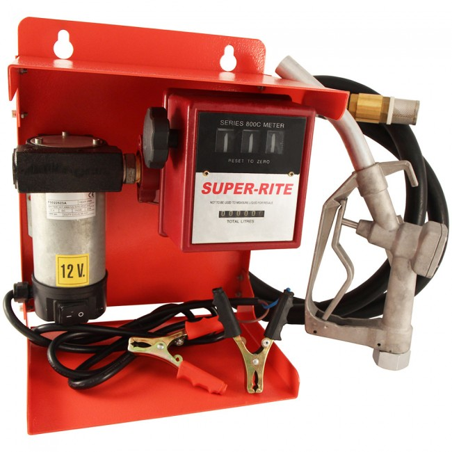 Bomba el ctrica de trasvase de gasoil con contador y pistola for Bomba de gasoil electrica