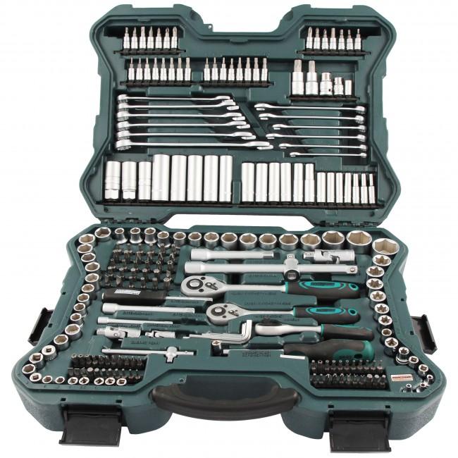 Malet n profesional con 215 herramientas de cromo vanadio for Juego de regadera y llaves