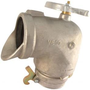 codos aluminio con llave hidrante