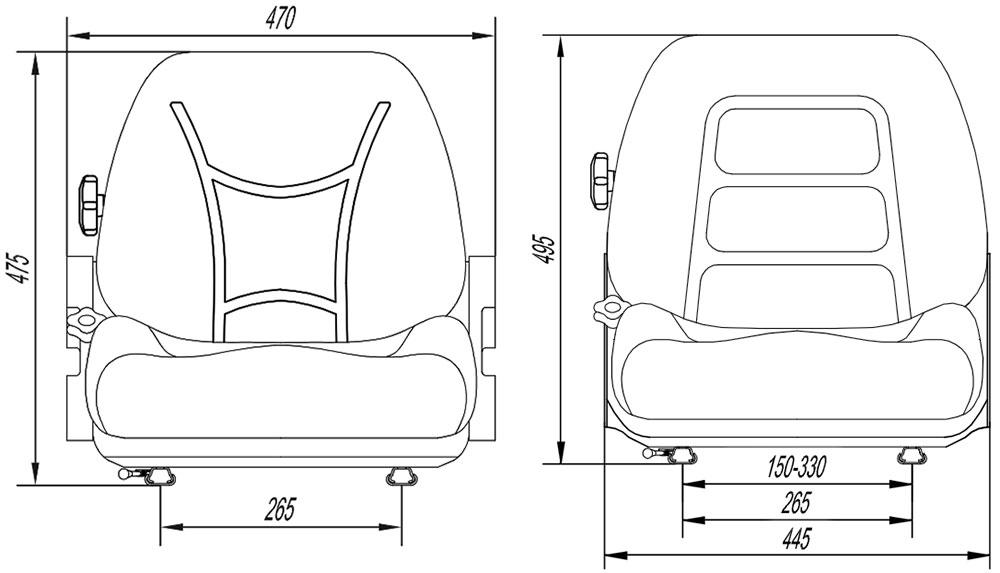 cotas asientos carretillas elevadoras