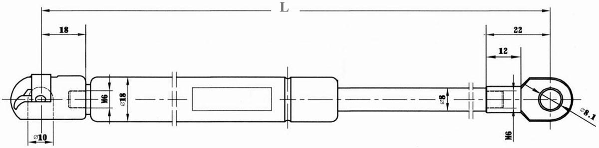 cotas amortiguadores gas