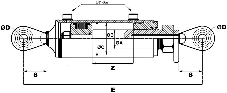 tercer punto hidraulico medidas